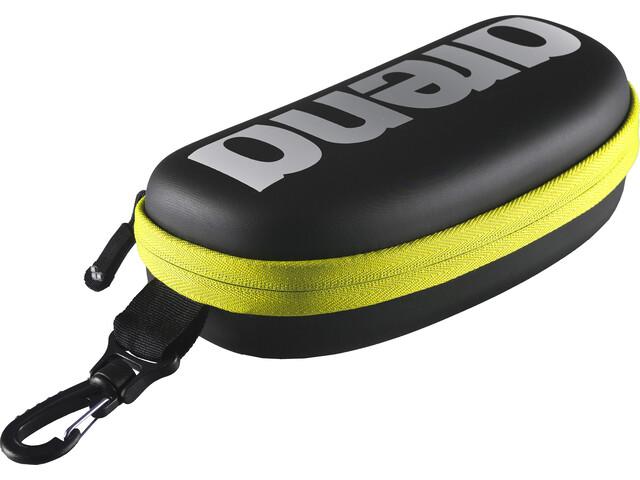 arena Goggle Case, black-silver-fluo yellow